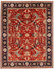 "Hand-Made  All Over Serapi 9'0"" x 11'9"" Design Wool Hand-Knotted  9X12 Area Rug"