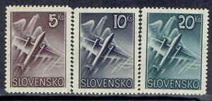 Slovakia, Scott #C7-C9, Plane in Flight, MNH