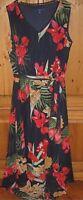 Apt 9 Womens Dress Blouson Sleeveless MIDI Ric Rac Tropical Blue X Large NEW