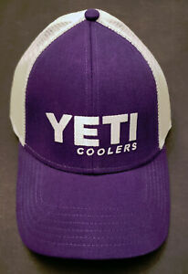 YETI Hat Purple/White Discontinued, Hard to Find