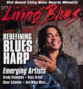 LIVING BLUES MAGAZINE NUMBER 232 AUG 2014 BLUES HARP GRADY CHAMPION RUSS GREEN