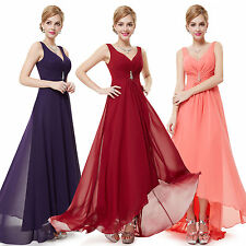 High-low Bridesmaid Dresses Cocktail Chiffon Prom Gowns 09983 Ever-Pretty