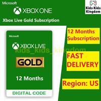 Xbox Live Gold 12 Month Membership Subscription - Xbox 360 One (US Region)