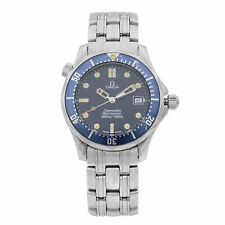 Omega Seamaster Blue Round 36mm Stainless Steel Midsize Quartz Watch 2561.80.00