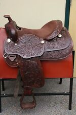 Used Tulsa Floral Saddle – 16""