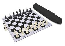 Wholesale Chess Triple Weighted Pieces and Mousepad Board Chess Set (Black)