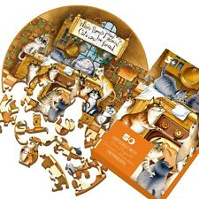 """wooden Pieces puzzle Jigsaw """" happy cats"""" best gift"""