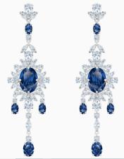 Blue, Rhodium plated 5498817 $279 Swarovski Palace Chandelier Pierced Earrings,