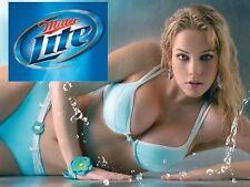 "MILLER LITE LIGHT BEER  (2.5"" X 3.5"" FRIDGE MAGNET)  SEXY GIRL MANCAVE BAR #4"