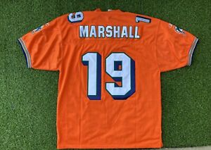 Authentic NFL On Field Brandon Marshall Miami Dolphins Football Jersey Mens 54