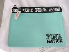 (1) NIP Victoria's Secret PINK Nation Teal Blue Bikini/Tablet Pouch FRE SHP