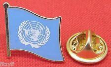 United Nations UN Flag Lapel Tie Pin Badge Brooch des Nations unies الأمم المتح