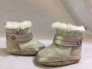 Stride Rite Winter Boots Baby Toddlers, Gray Leather, Size 3-6 Months