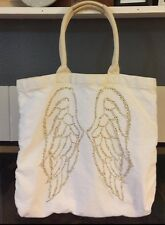 VICTORIAS SECRET ANGEL WINGS CANVAS TOTE HANDBAG PURSE