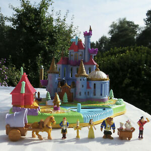 Polly Pocket Disney Belle Beauty and the Beast 100% komplett TOP Magical Castle
