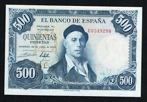 Spagna / Espana - 500 pesetas 1954 SPL+/XF+  B-01