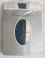 Vintage Christian Dior Diorella Opaque Plain Knit Tights One Size French Navy
