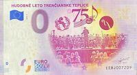 BILLET 0  EURO HUDOBNE LETO TRENCIANSKE TEPLICE SLOVAQUIE  2020 NUMERO DIVERS