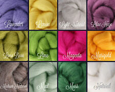 SELECT 4 or 8 COLORS, Wool Roving for Sale, Needle Felting Supplies, Spinning