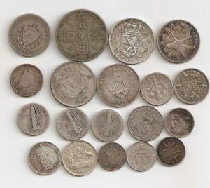 👌👌👌 19 Mix Silver World Coins 🎁🎁🎁