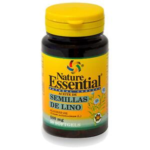 ACEITE DE SEMILLA DE LINO 500 mg. 50 Perlas - NATURE ESSENTIAL - Flaxseed oil