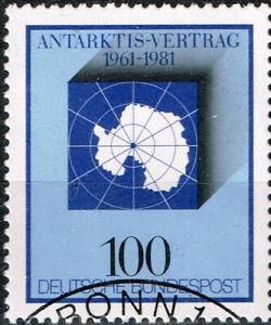 Germany Antarctica Map stamp 1981