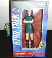 "STAR TREK TNG COUNSELOR TROI DIAMOND BOXED FEMME FATALES 9"" VINYL FIGURE NEW"