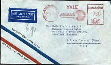 407698) Bund Luftpostbrief mit AFS Velbert in die USA, Abb. Schlüssel Yale