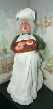BYERS CHOICE Mrs Claus with a Tray of Baked Goods Talbots 2001 *