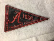 2012 UPPER DECK ALABAMA FOOTBALL 1930 NATIONAL CHAMPIONSHIP PENNANT THE TICKETS