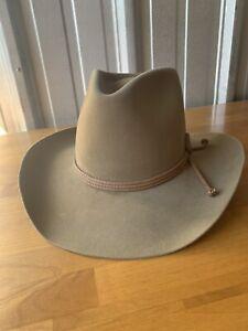Vtg Resistol 4X Cowboy Hat Size 7 1/4 Chaparral Pecan Brown