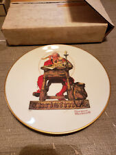 New listing 1980 Norman Rockwell Gorham China Christmas Plate Letter To Santa