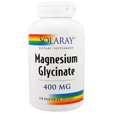 Magnesium Glycinate, 400 mg, 120 Veggie Caps - Solaray