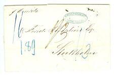 SWEDEN/BRAZIL: Cover from Rio de Janeiro to Sweden 1863, scarce.