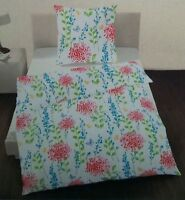 ido Dobning Perkal Bettwäsche Set 2 teilig 135 x 200 cm Blumen 100% Baumwolle