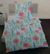ido Dobning Perkal Bettwäsche Set 2 teilig 155 x 220 cm Blumen 100% Baumwolle