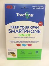 Tracfone Keep Your Own Phone Prepaid Sim Kit, Compatible w Most Smartphones