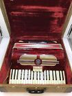 Vintage Ambassador Accordion With Original Case- Tested/ Plays Well