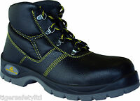 Delta Plus Panoply Jumper 2 S1P Black Leather Mens Safety Toe Cap Work Boots UK