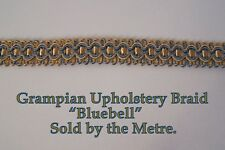 "Old Gold & Blue Upholstery Braid ""Grampian Bluebell"" 18mm (sold by the Metre)"