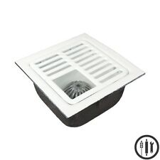 """Floor Sink-12"""" x 12"""" x 6"""" w/ 2"""" Drain, Aluminum Dome Strainer and 3/4 Top Grate"""