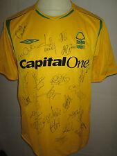 Nottingham Forest 2006-2007 Squad Firmado Away camiseta de fútbol del Coa / 34374