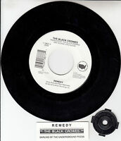 "THE BLACK CROWES  Remedy 7"" 45 rpm vinyl record + juke box title strip RARE!"