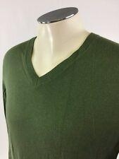 Banana Republic Cashmere Silk VNeck Sweater M Green Golf Mens
