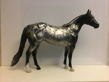 Blizzard - Peter Stone Model Horse - Snowflake Obsidian - Precious Stone Series