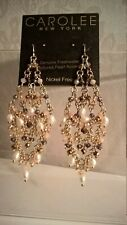 Carolee multi beads,Freshwater Pearls, chandelier earrings. $75