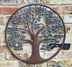 Green Tree of Life Wall Art-Garden Ornament Metal Gift Present In/Outdoor