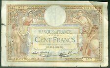 100 FRANCS LUC OLIVIER MERSON du 13/1/1938  ETAT/ B   C 57113