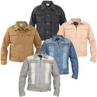 Mens Denim Jackets Regular Fit Chest Pocket Cotton Summer Button Casual Top
