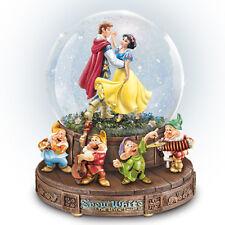 Disney Snow White And The Seven Dwarfs Rotating Musical Glitter Globe New
